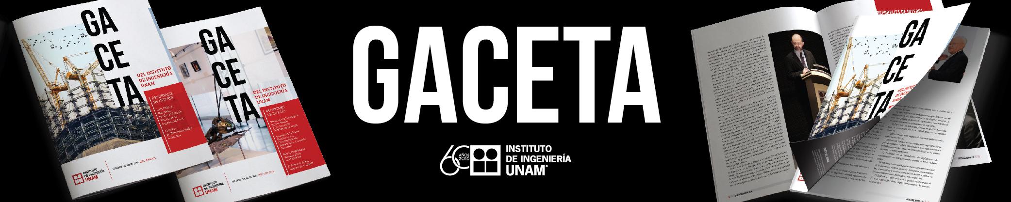 GACETA DEL INSTITUTO DE INGENIERÍA UNAM